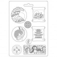 Stamperia Sir Vagabond Japan - A4 Soft Mould - Plates