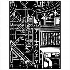 Stamperia - Sir Vagabond In Japan - Thick Stencil - Texture Mechanism