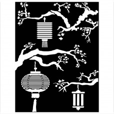 Stamperia - Sir Vagabond In Japan - Thick Stencil Lanterns