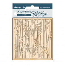 Stamperia - Sir Vagabond In Japan - Decorative Chips - Bamboo