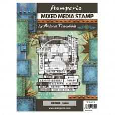Stamperia - Sir Vagabond In Japan - Mixed Media Stamp - Writings