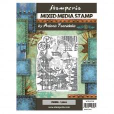 Stamperia - Sir Vagabond In Japan - Mixed Media Stamp - Pagoda