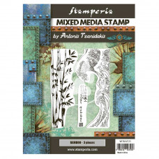 Stamperia - Sir Vagabond In Japan - Mixed Media Stamp - Bamboo