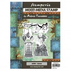 Stamperia - Sir Vagabond In Japan - Mixed Media Stamp - Lantern