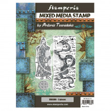Stamperia - Sir Vagabond In Japan - Mixed Media Stamp - Dragon