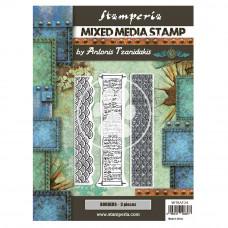 Stamperia - Sir Vagabond In Japan - Mixed Media Stamp - Borders
