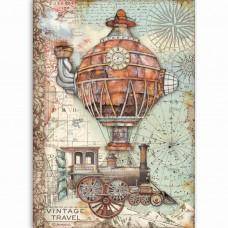 Stamperia - Sir Vagabond - A4 Rice Paper - Vintage Travel