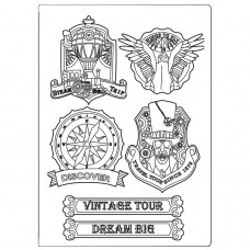 Stamperia - Sir Vagabond - Silicone Mould A5 - Vintage Tour