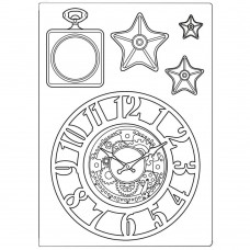 Stamperia - Sir Vagabond - Silicone Mould A5 - Clocks and Stars