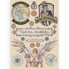 Stamperia A5 Coloured Frame – Sir Vagabond Travel Journal