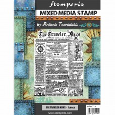 Stamperia - Sir Vagabond - The Traveler News Stamp