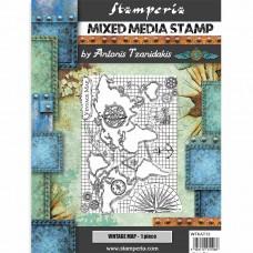 Stamperia - Sir Vagabond - Vintage Map Stamp