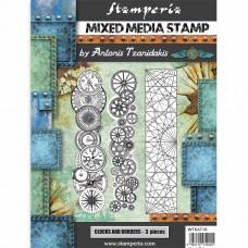 Stamperia - Sir Vagabond - Steampunk Clocks and Borders Stamps