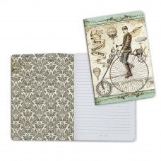 Stamperia - Voyages Fantastiques - A5 Notebook - Bicycle