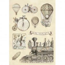 Stamperia - Voyages Fantastiques - Coloured Wooden Shapes - Transport