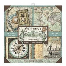 Stamperia - Voyages Fantastiques - 12x12 Maxi Scrapbooking Paper Pad