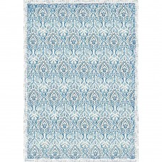 Stamperia - A3 Rice Paper - Damask Blue