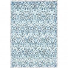 Stamperia - A3 Rice Paper - Damask Blue