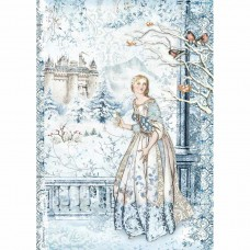 Stamperia - A4 Rice Paper - Fairy In The Snow