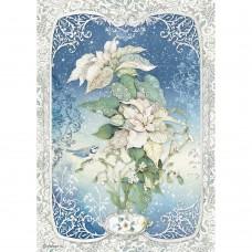 Stamperia - A4 Rice Paper - Poinsettia