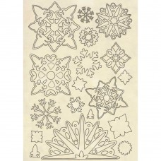 Stamperia - Wooden Shape - Snowflakes