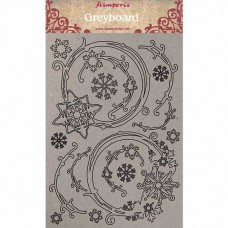 Stamperia - Greyboard - Snowflakes And Garlands