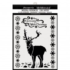 Stamperia - Thick Stencil - White Christmas Deer