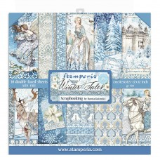 Stamperia - Scrapbooking Pad 12″x12″ - Winter Tales