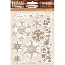 Stamperia - HD Natural Rubber Stamp - Snowflakes