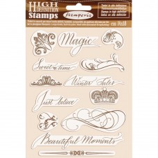Stamperia - HD Natural Rubber Stamp - Beautiful Moments