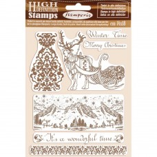 Stamperia - HD Natural Rubber Stamp - Winter Time