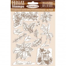 Stamperia - HD Natural Rubber Stamp - Poinsettia