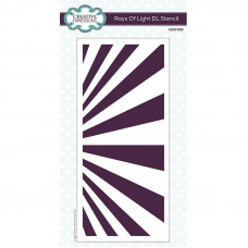 Creative Expressions - Rays Of Light DL Stencil