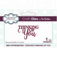 January Collection - Mini Expressions - Stacked Thinking Of You