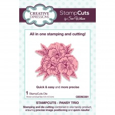 January Collection - StampCuts - Pansy Trio