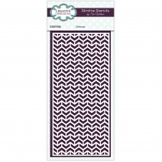 January Collection - Slimline Stencil - Chevron