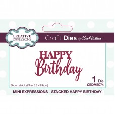 January Collection - Mini Expressions - Stacked Happy Birthday