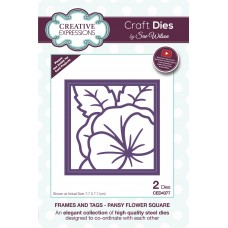 Frames and Tags Collection - Pansy Flower Square
