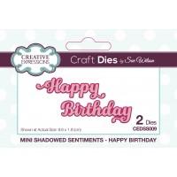 Mini Shadowed Sentiments - Happy Birthday - PRE ORDER
