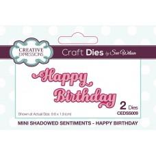Mini Shadowed Sentiments - Happy Birthday
