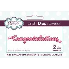 Mini Shadowed Sentiments - Congratulations