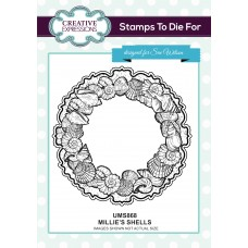 Millie's Shells Pre Cut Stamp