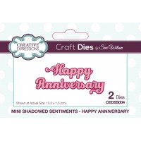 Mini Shadowed Sentiments - Happy Anniversary - PRE ORDER