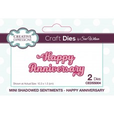 Mini Shadowed Sentiments - Happy Anniversary