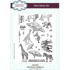 Safari Collection - African Animals A5 Clear Stamp Set