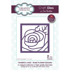 Frames & Tags - Rose Flower Square