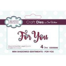 October Collection - Mini Shadowed Sentiments - For You