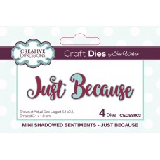 October Collection - Mini Shadowed Sentiments - Just Because