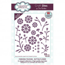 April Collection - Finishing Touches - Button Flower Craft Die