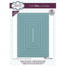 April Collection - Noble Postage Stamp Frame Craft Die